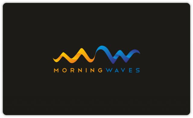 Morning Waves logo (black bakground)