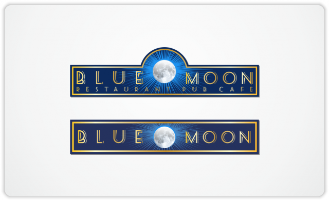 Blue Moon signboards