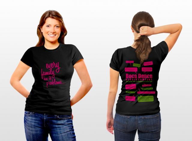 Dance Studio T-shirt Designs T-shirt For Boca Dance Studio