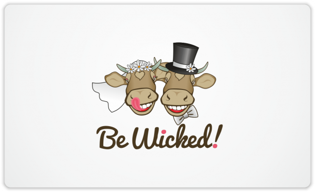Wicked Cow Creamery wedding couple