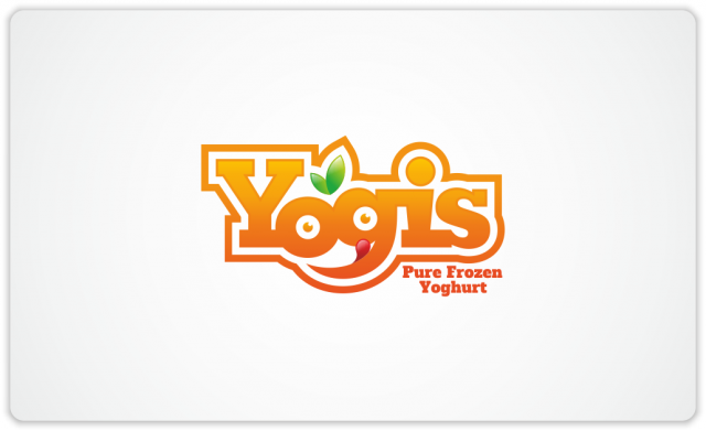 Yogis logo - orange version