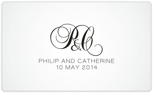 Wedding monogram P&C