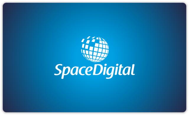 Space Digital logo blue variant